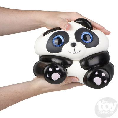The Toy Network Jumbo Sparkle Eye Panda Squishie