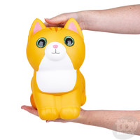 "The Toy Network Jumbo Sparkle Eye Cat Squishie (10"")"