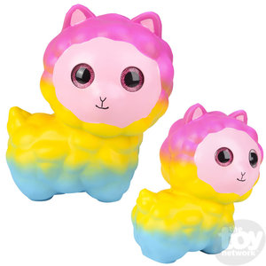 "The Toy Network Jumbo Sparkle Eye Alpaca Squishie (10"")"
