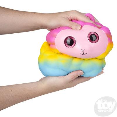 "The Toy Network Jumbo Sparkle Eye Alpaca Squishie (10"")"