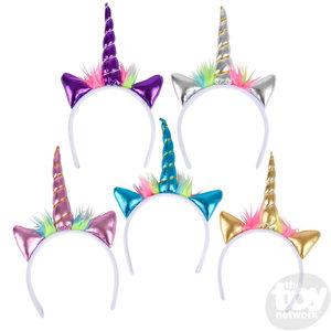 The Toy Network Metallic Unicorn Headband
