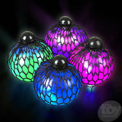 The Toy Network Light-Up Mesh Squishie Jelly Ball