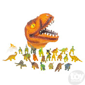The Toy Network Dinosaur Set with T-Rex Head Case - 24 Pieces