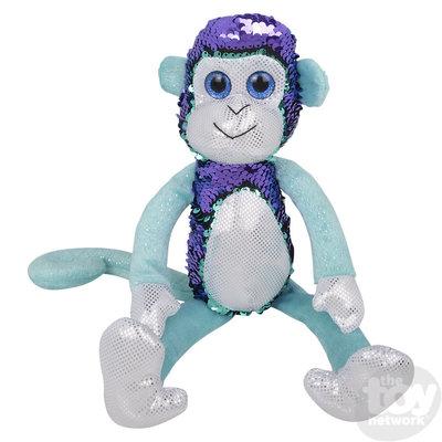 "The Toy Network Sequin Monkey Plush Stuffed Animal (15"")"