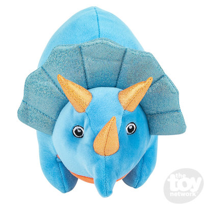 "The Toy Network Puffy Fluff Triceratops Dinosaur Plush Stuffed Animal (11"")"