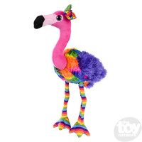 "The Toy Network Rainbow Flamingo Plush Stuffed Animal (11"")"