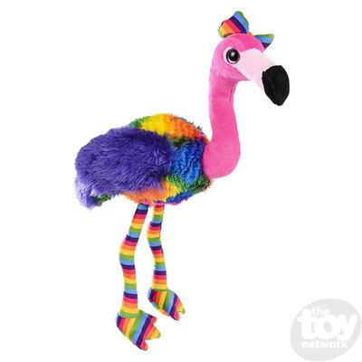 "The Toy Network Rainbow Flamingo Plush Stuffed Animal (11"")"