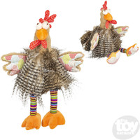 "The Toy Network Long Hair Rooster Plush Stuffed Animal (10"")"