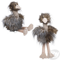 "The Toy Network Long Hair Ostrich/Emu Plush Stuffed Animal (13"")"