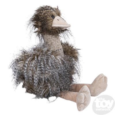 "The Toy Network Long Hair Ostrich/Emu Plush Stuffed Animal (13"")"