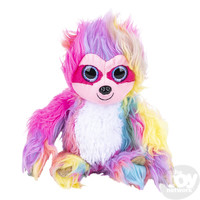 The Toy Network Furry Rainbow Sloth Plush Stuffed Animal