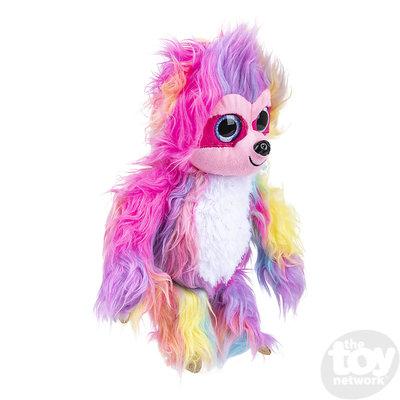The Toy Network Furry Rainbow Sloth Plush Stuffed Animal