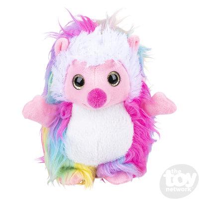 The Toy Network Furry Rainbow Standing Hedgehog Plush Stuffed Animal