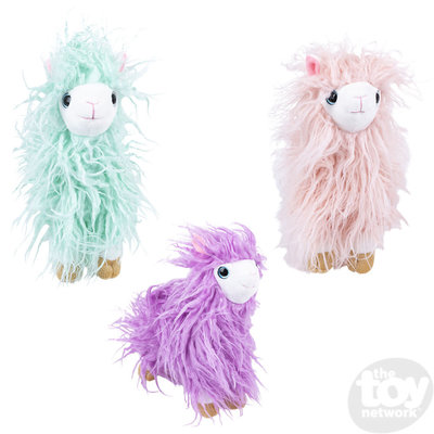 The Toy Network Furry Llama Plush Stuffed Animal