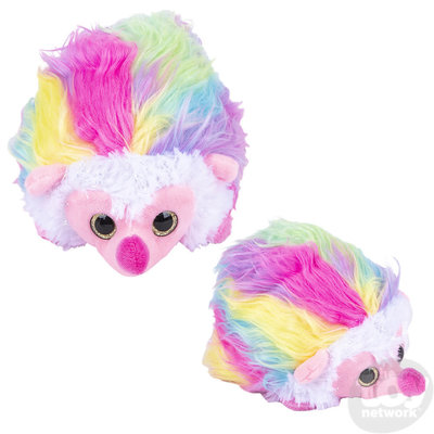 The Toy Network Furry Rainbow Baby Hedgehog Plush Stuffed Animal