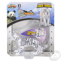 The Toy Network White Tiger Robot Transforming Action Figure