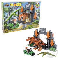 The Toy Network Dinosaur Block Playset XL - 59 pieces