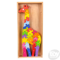 "The Toy Network Wooden Giraffe Letter Puzzle - 26 Pieces - 14"" x 6.5"""