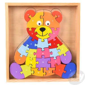 """The Toy Network Wooden Bear Letter Puzzle - 26 pieces - 9"""" x 8.25"""""""