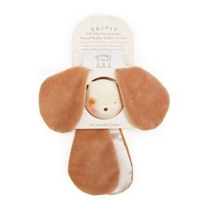 Bunnies by the Bay Skipit - Ear-resistible Teether - Soft Silky Ears to Soothe, Natural Rubber Teether to Chew