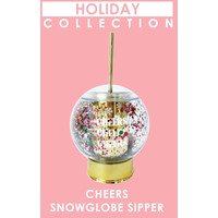 Packed Party Cheers Snowglobe Confetti Christmas Sipper Cup