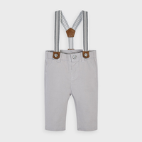 Mayoral Long trousers with suspenders - Steam/Vapor