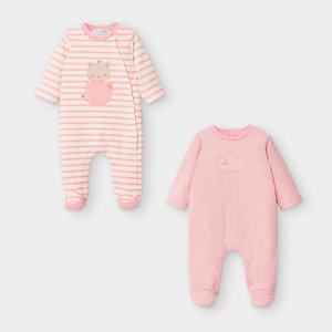 Mayoral Set of 2 Onesies - Pink
