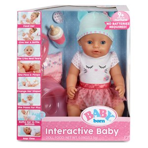 KidFocus BABY born Interactive Doll - Blue Eyes