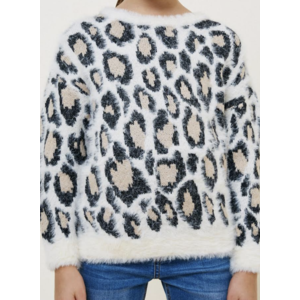 Hayden Sweater - Leopard Mohair Pullover