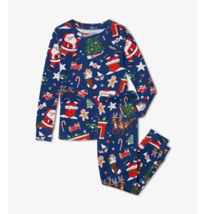Hatley Twas the Night Before Christmas - Boys Long Sleeve Pajama (Estate Blue )