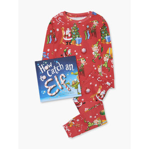 Hatley Long Sleeve How to catch an elf Pajama Set - W/Book