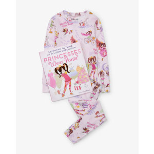 Hatley L/S Princess Wear Pants Pajama Set - w/ Book (Pink) - Hanging Set