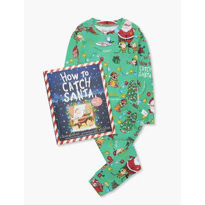 Hatley How to Catch Santa Pajama Set w/ Book (Flat Pack)