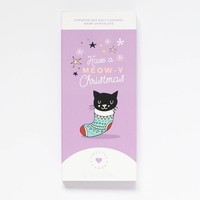 Sweeter Cards Have a Meow-y Christmas Card & Chocolate Bar in one!