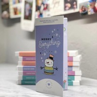 Sweeter Cards Merry Everything Holiday Card & Chocolate Bar