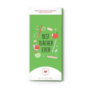 Sweeter Cards Best Teacher Ever - Teacher Appreciation Card with Chocolate INSIDE