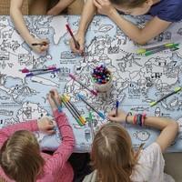 Eatsleepdoodle World Map Tablecloth