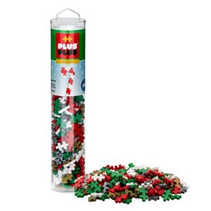 Plus Plus Tube 240 pc - Holiday Mix