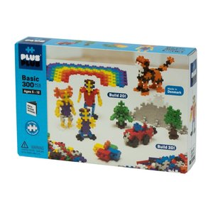 Plus Plus Basic Set - 300 pieces (Idea Guide inside!) - Ages 5-12