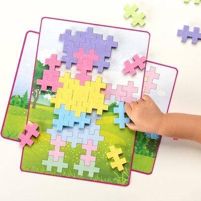 Plus Plus BIG Picture Puzzles - Pastel - 60 pieces (ages 3-7)