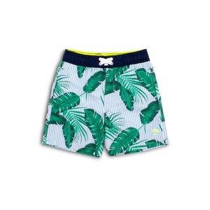 Shade Critters Boy Swim Trunks - Blue Palm