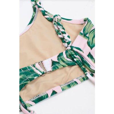 Shade Critters Braided Strap Bikini Swimsuit - Pink Palm