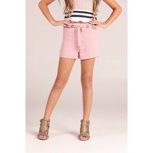 Sadie & Sage Eyelet Belt Shorts