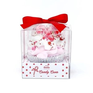 Feeling Smitten Large Candy Cane Cupcake Bath Bomb