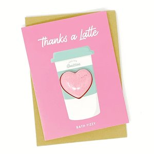 Feeling Smitten Thanks a Latte  - Bath Bomb Fizzy + Card