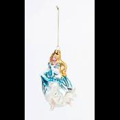 """Glitterville Cinderella - Glass Ornament - 5"""", 5.5"""""""