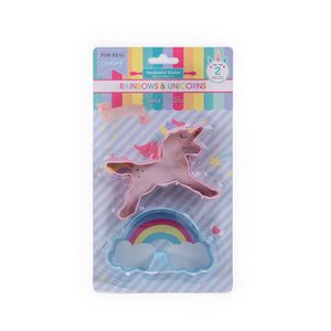 Handstand Kitchen Rainbows & Unicorns Set of 2 Cookie Cutters