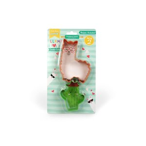 Handstand Kitchen Llama Love - Set of 2 Cookie Cutters (Llama and Cactus)