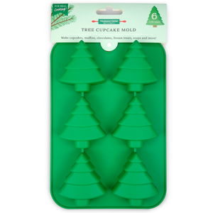 Handstand Kitchen Christmas Tree Cupcake Mold - Makes 6 cupcakes!
