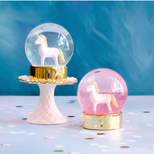 "One Hundred 80 Degrees White - Unicorn Snow Globe 5"""